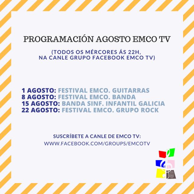 EMCO TV. AGOSTO