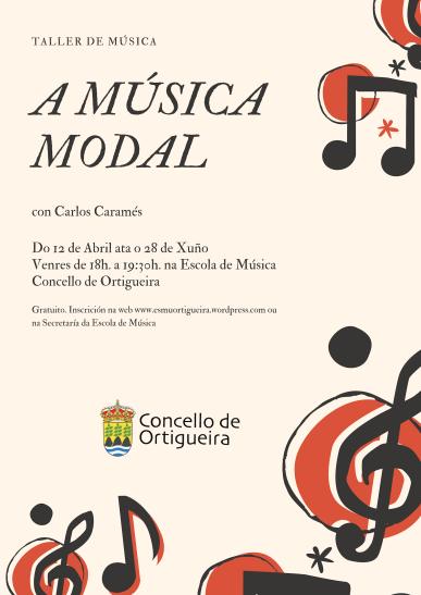 curso Musica Modal. Cartel