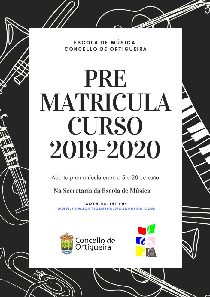PRE MATRICULA CURSO 2019-2020
