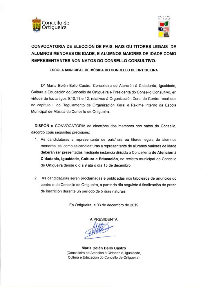 consello consultivo 2019. eleccions