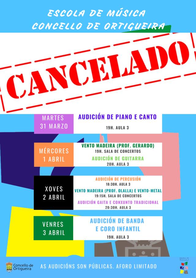 cancelado CARTAZ AUDICIONS EMCO SEMANA BRANCA 2020