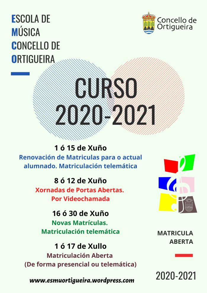 Cartel matrícula 2020