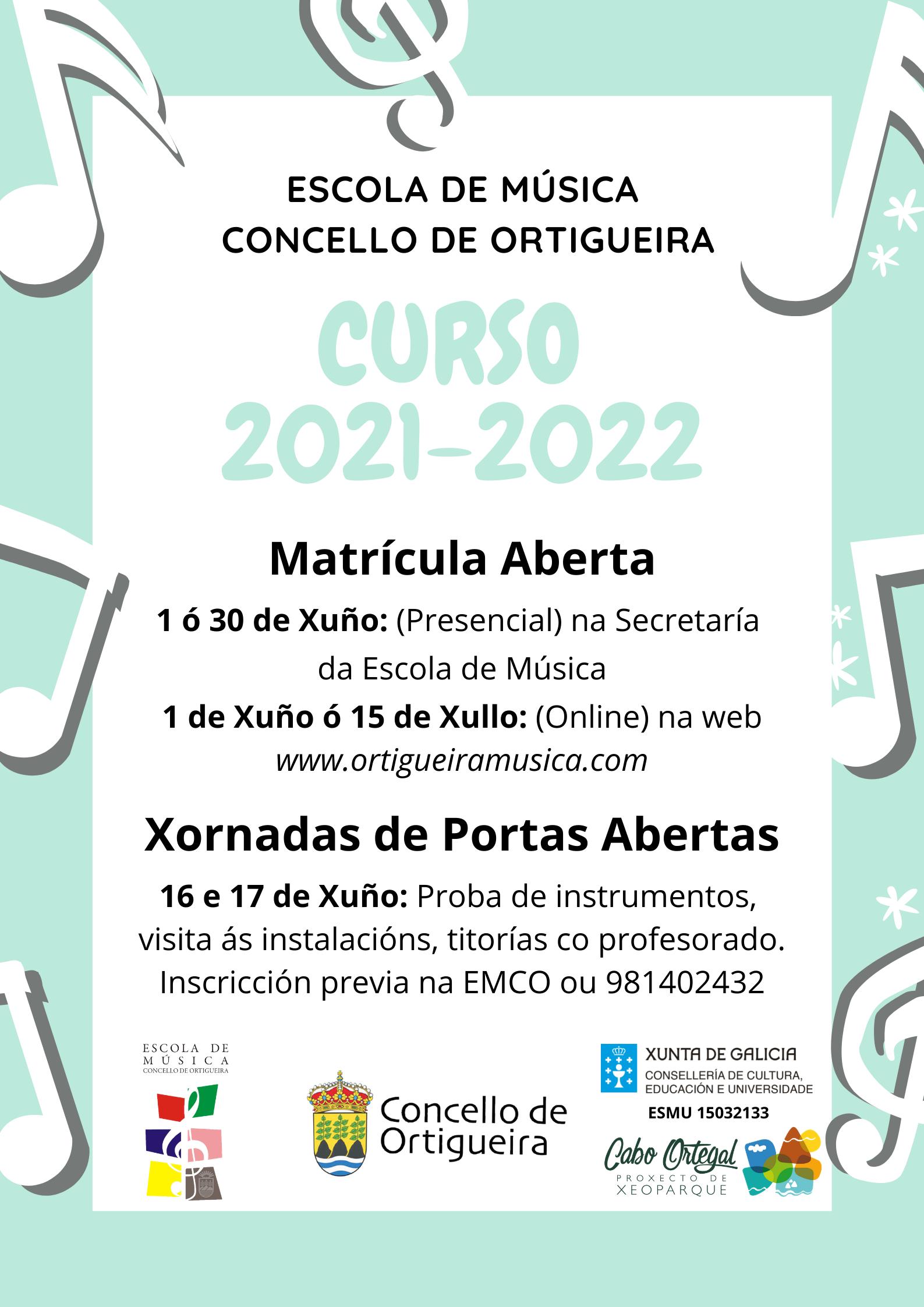 CARTEL EMCO. MATRICULAS 2021-2022